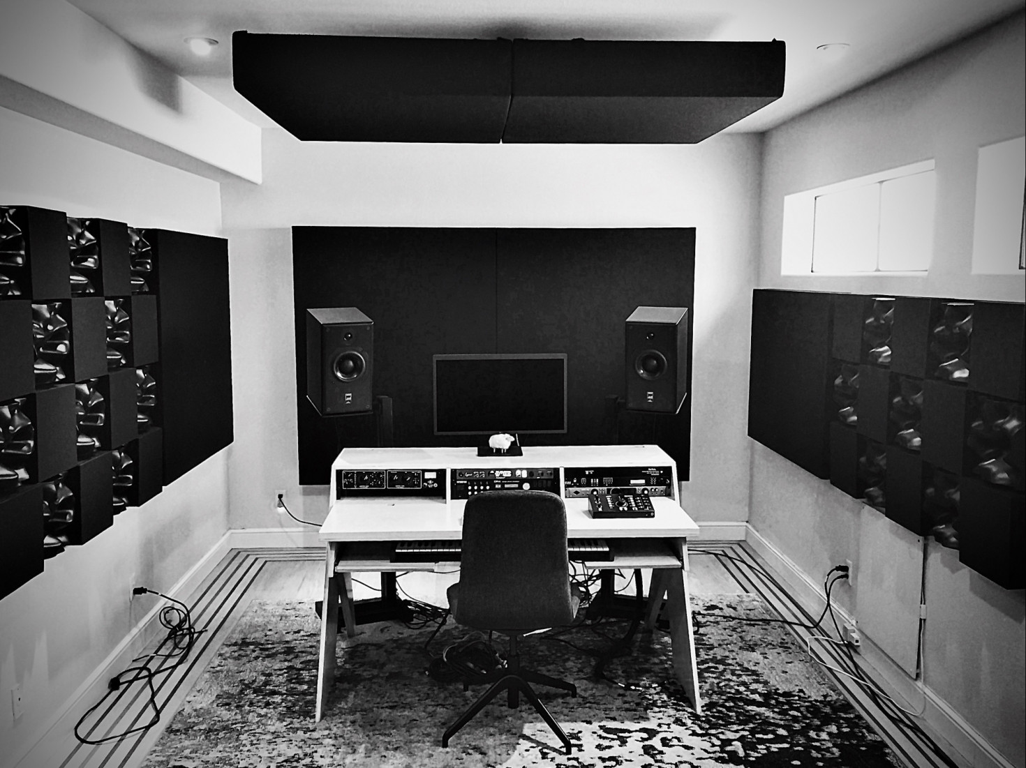 Photo of final home recording studio