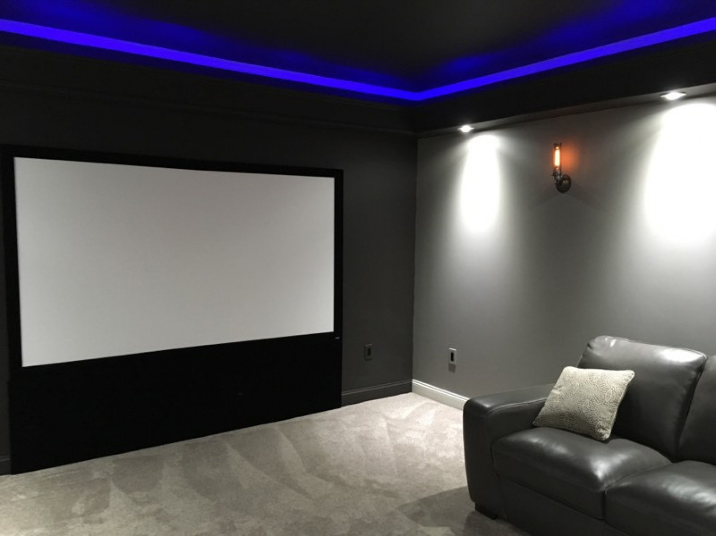 Photo of home theater screen wall