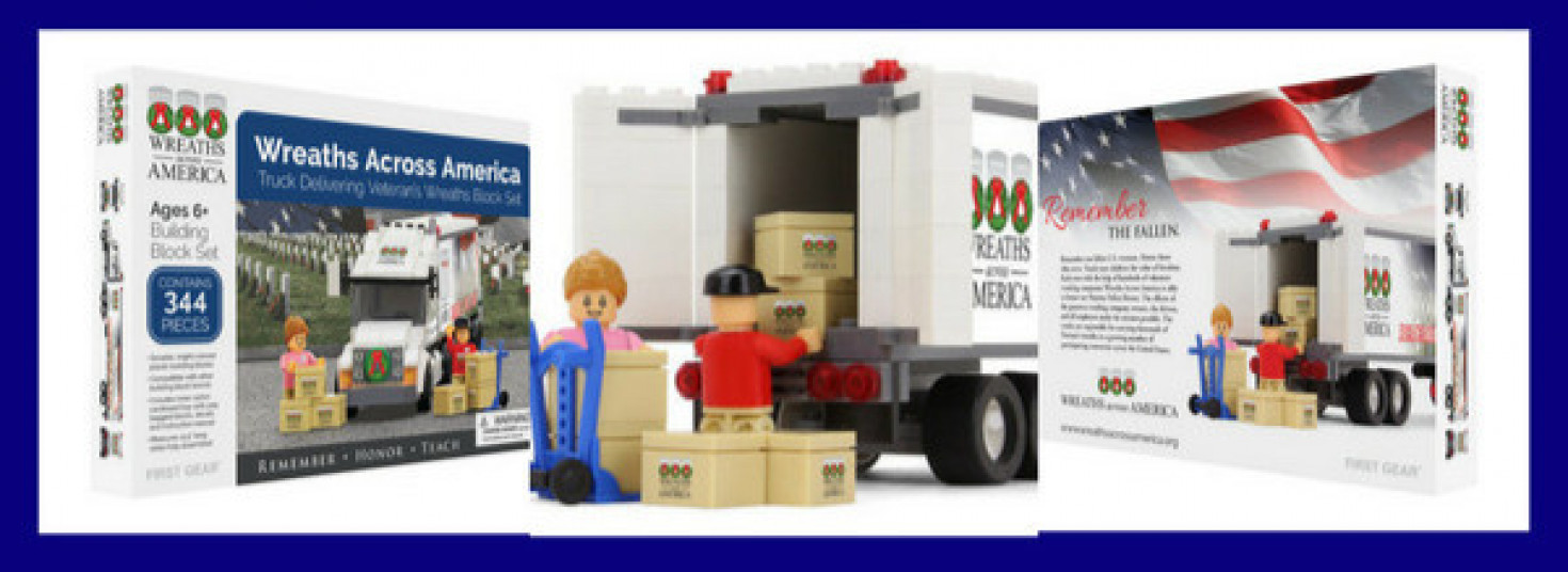 Wreaths Across America Toy Truck Block Set Giveaway (3 different ways to win)!