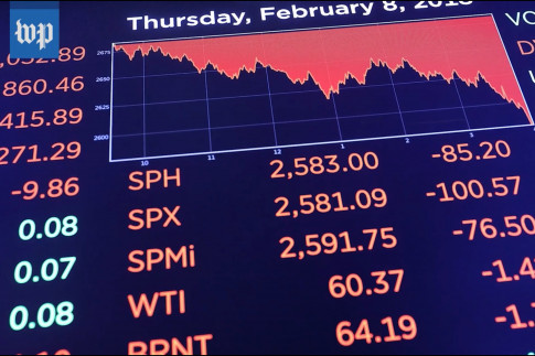 Washington Post: `Dow Plunges More Than 1,000 Points on Specter of Higher Interest Rates`
