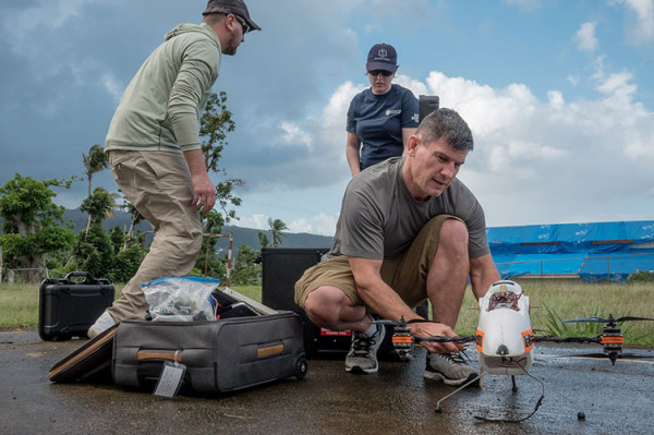 Maryland UAS Experts Join Humanitarian Effort to Rebuild a Devastated Dominica