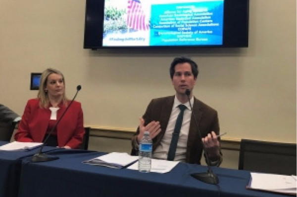 Dr. Andrew Fenelon Discusses Life Expectancy Policy with Lawmakers