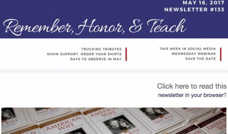 #133 - 5/16/2017 WAA eNewsletter